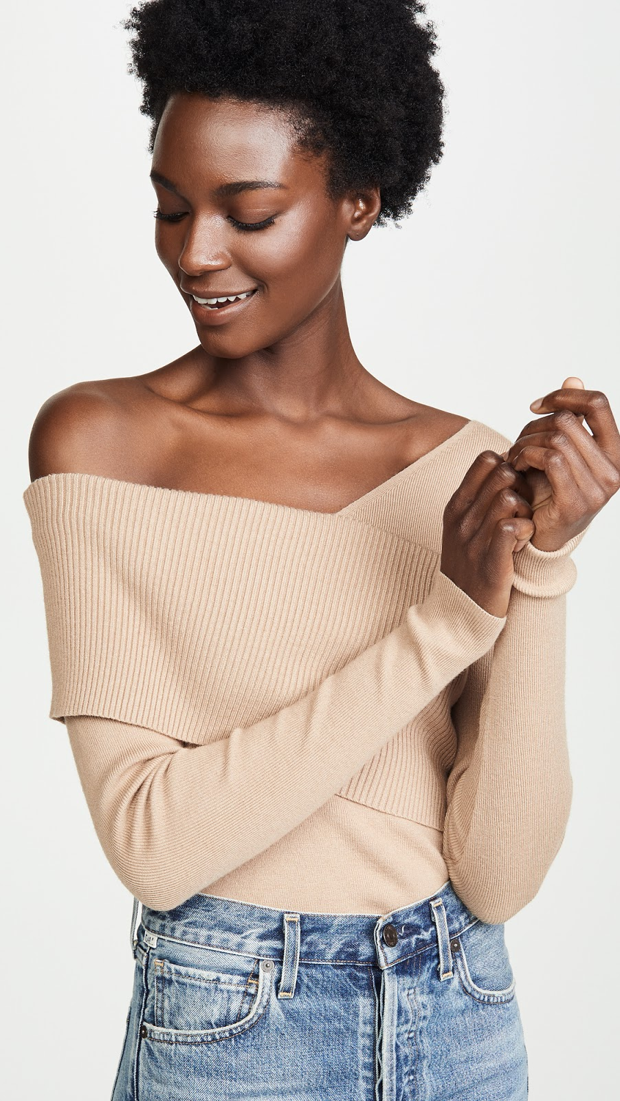 Stylish Under-$100 Off-The-Shoulder Sweater for Fall