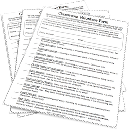 Want your own free copy of the Classroom Volunteer Form?