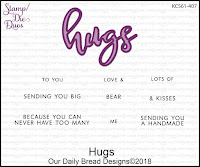 ODBD Hugs Stamp/Die Duos
