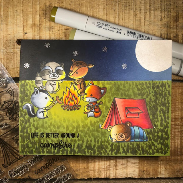 Sunny Studio Stamps: Critter Campout Customer Card Share by Courtney Kreeber