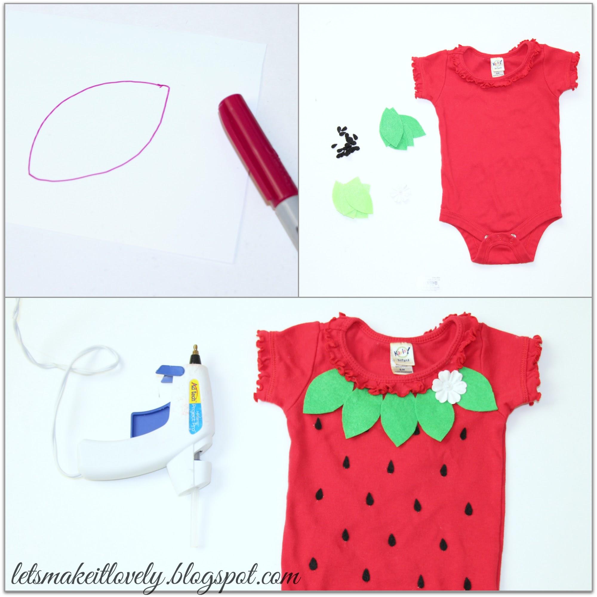 DIY Baby Strawberry Costume, DIY Simple Halloween Costume for Infant, Easy Handmade Costume