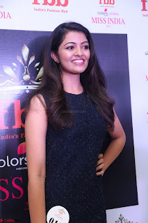 Model Shreya Kamavarapu in Short Black Dress at FBB Miss India 2017 finalists 055.JPG