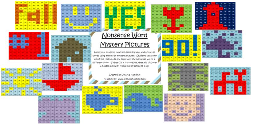 http://www.teacherspayteachers.com/Product/Nonsense-Word-Mystery-Pictures-384111