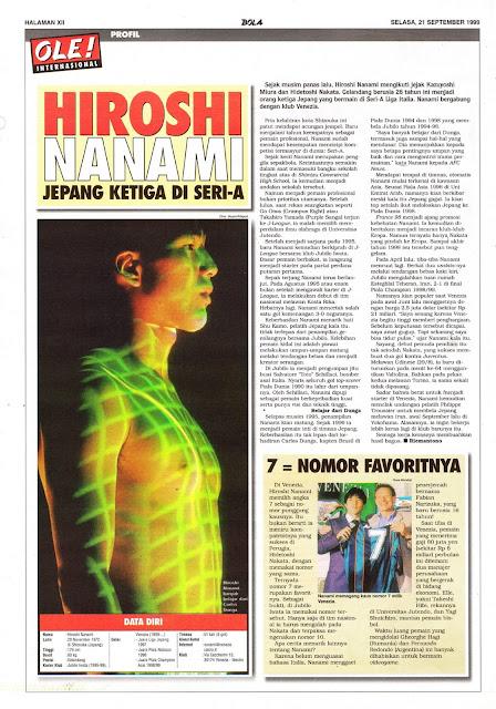 HIROSHI NANAMI PROFILE VENEZIA JAPAN