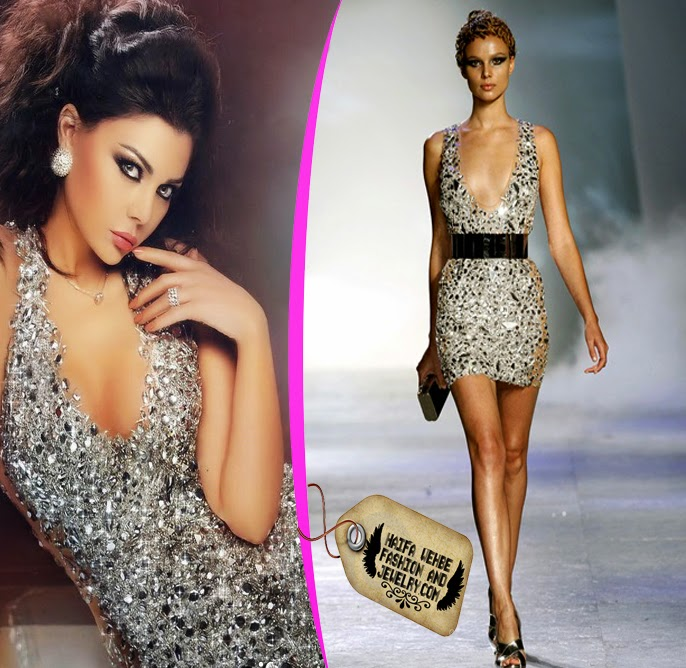 97941a32fed Haifa Wehbe Wearing a Crystal Embalished dress by Zuhair Murad