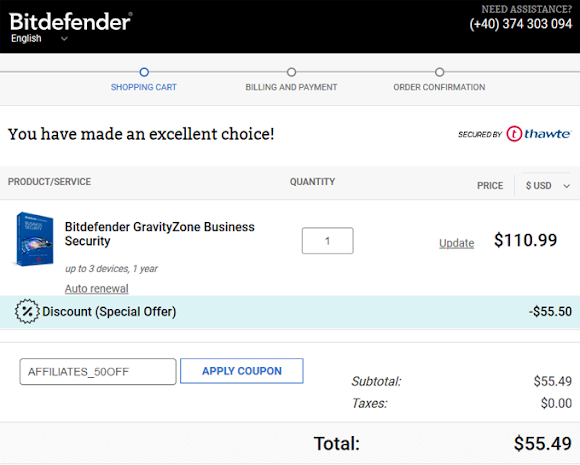 Bitdefender GravityZone Business Security Coupon Special Discount