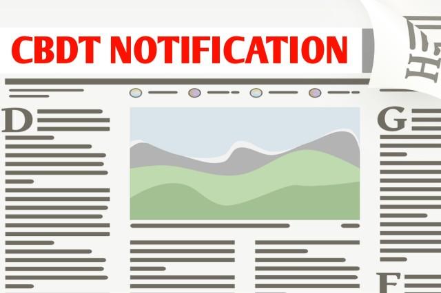CBDT Notification for PAN and Aadhaar linking