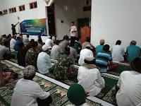Babinsa 0910 -03 dan Bhabinkamtibmas Ikuti Acara Safari Ramadhan