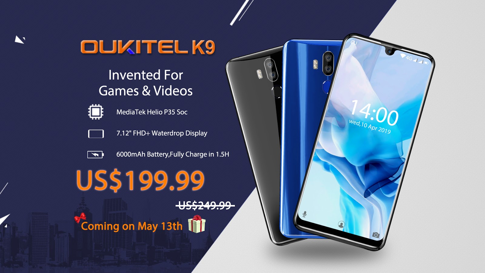 OUKITEL K9 Presale is Starting on May 13th at just $199 99, Hands On