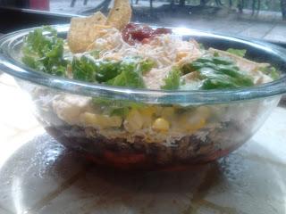 Vegetarian Layered Southwest Taco Salad 7