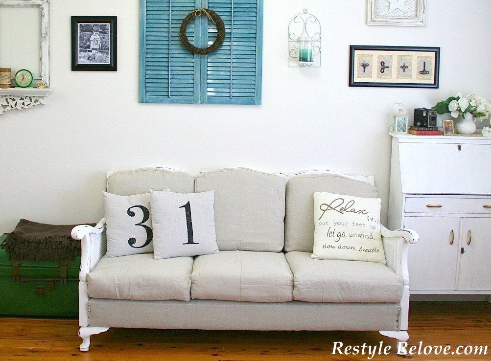 Vintage Lounge Suite French Inspired Makeover