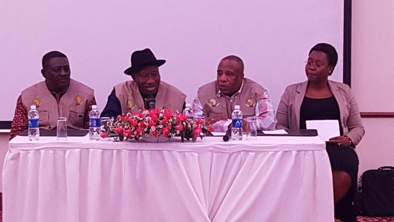 Photos: GEJ meets other AU Election Observers in Zambia