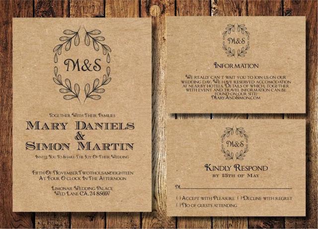 Wedding Invitation Samples 1