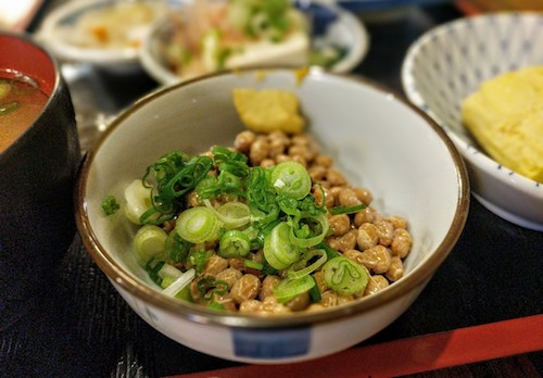 A bowl of fresh natto