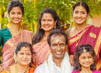 Arun Pandian Family Photos With Wife, Daughters & Friends