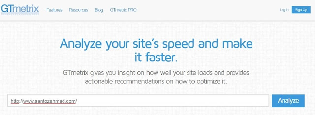 Cara Mengetes Kecepatan Blog