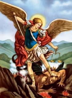 Imagen de San Miguel Arcángel destruyendo al mal