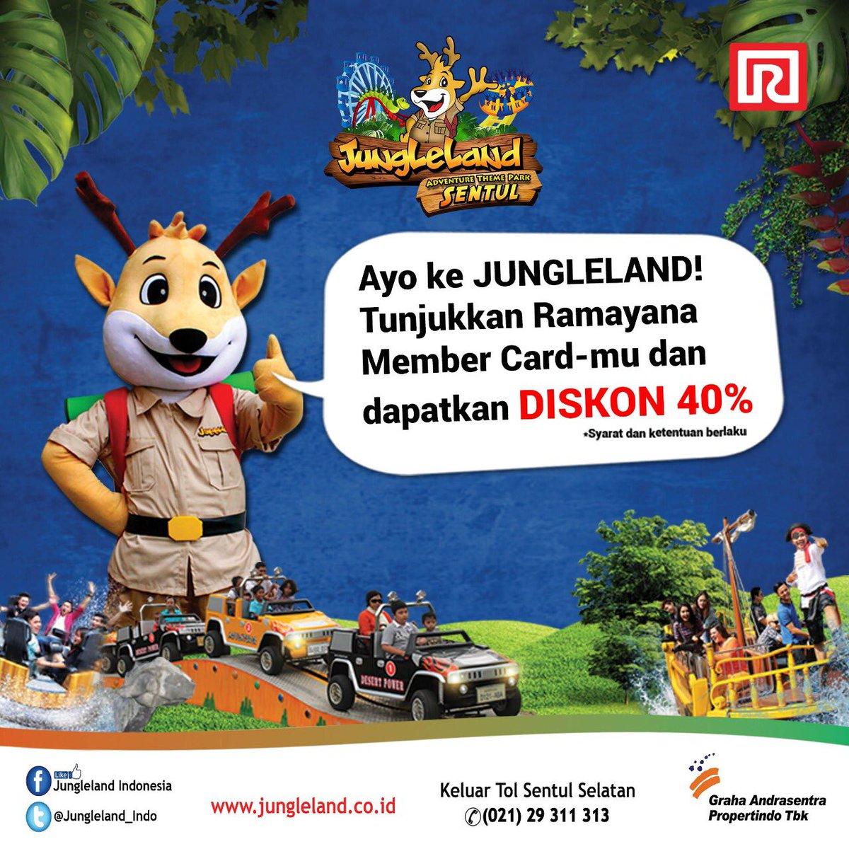 Ramayana - Promo Diskon 40% di JungleLand Pakai Kartu Ramayana