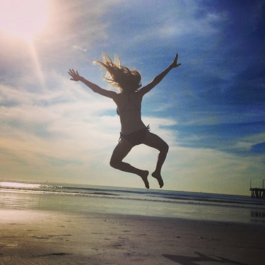 AMANDA JUMPS FOR JOY