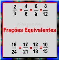 Frações equivalentes: representam o mesmo valor