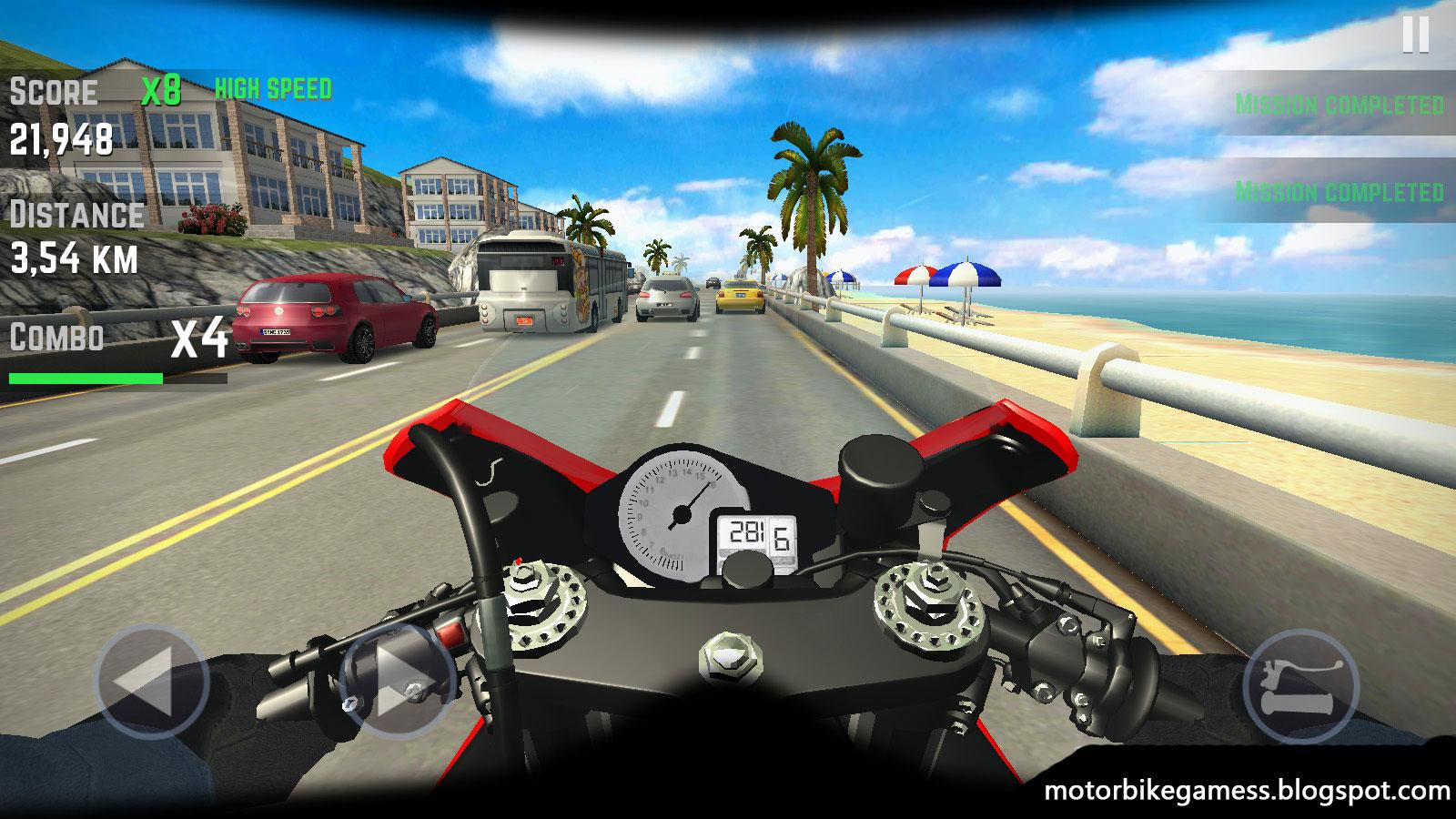 free new motorcycle games  Highway Traffic Rider v1.6 Multiplayer Motorbike Games Free Download ...