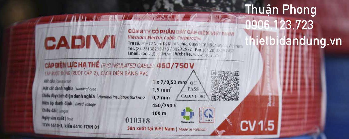 Hướng dẫn cách tính trọng lượng dây điện Cadivi trong mạng lưới điện