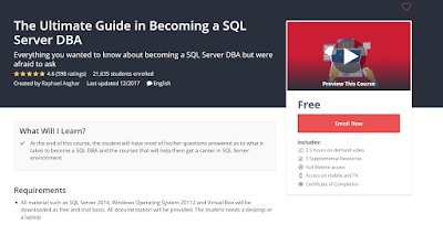 free course to learn SQL Server and become DBA