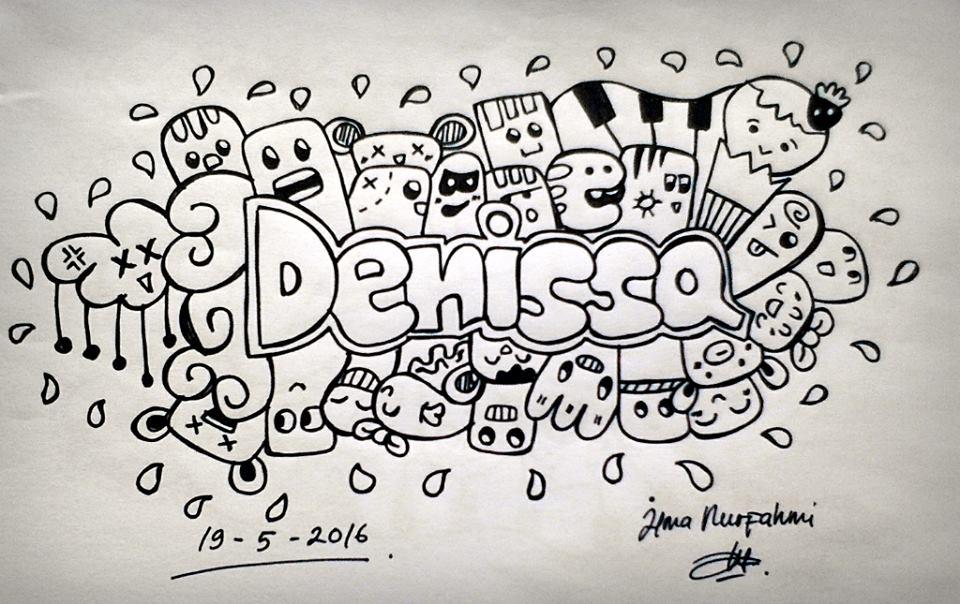 Gambar Gambar Doodle Nama Denissa Desain Rumah Oke Aldo di