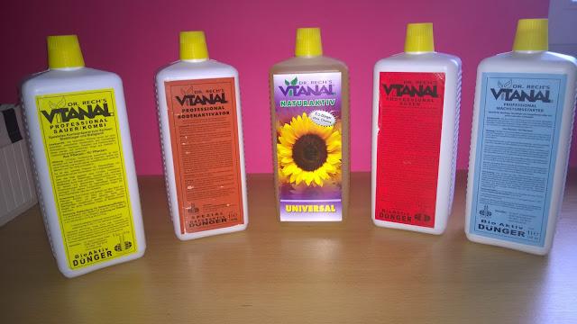 5 verschiedene Produkte von ´Dr. Rech´s Vitanal.