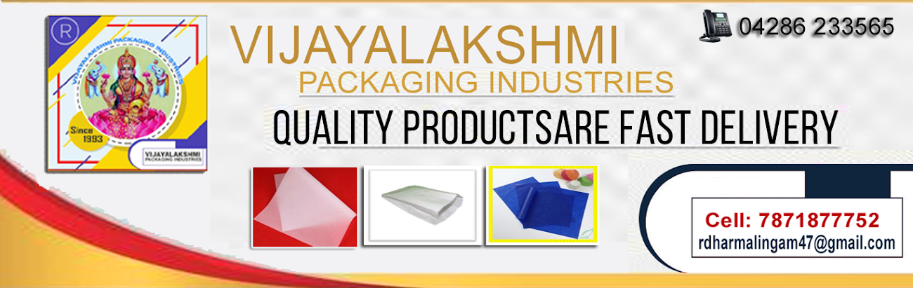 Packaging Labeling Paper BacksTable Rollers Products here the Vijayalakshmi Packaging Industries