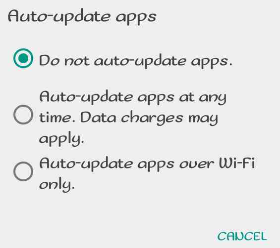 do not auto update apps on playstore
