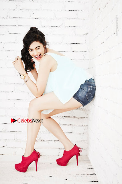 Bollywood Actress Adah Sharma Spicy Ultra HD Poshoot Gallery in Denim Shorts  0003.jpg