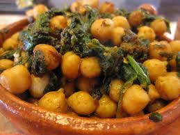 Simple Recipe ~ Spanish Style Chickpeas and Spinach Tapas or Bruschettas