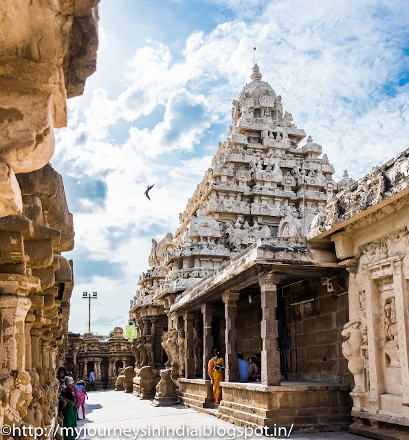 Kanchipuram Kailasanathar Temple Tower
