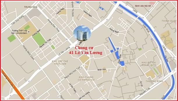 Vị trí Chung cư 41 Lê Văn Lương