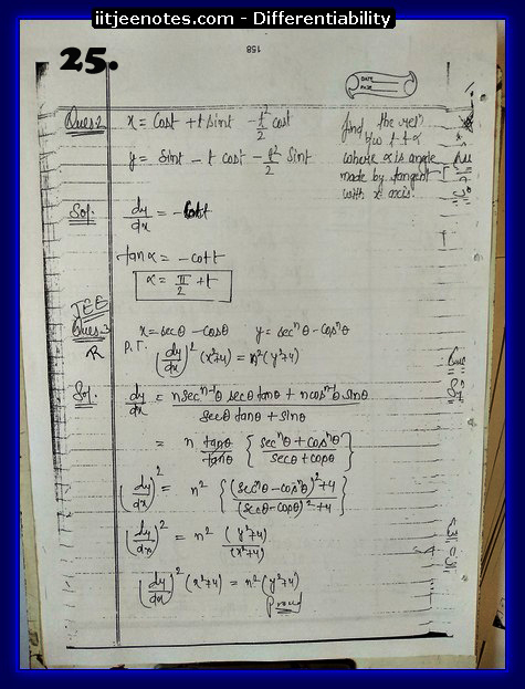 differentiability notes cbse1