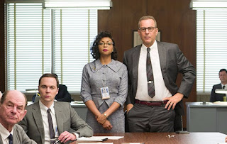 Kevin Costner, Taraji P. Henson, and Jim Parsons in Hidden Figures