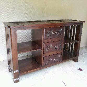 lemari rak buku kayu jati