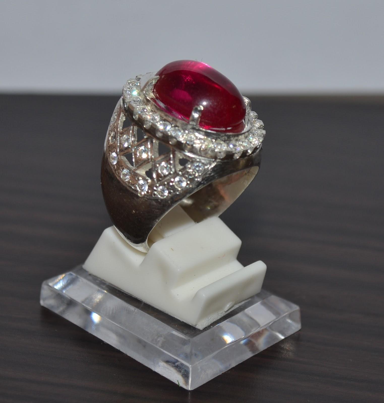 Cincin Perak Batu Mulia
