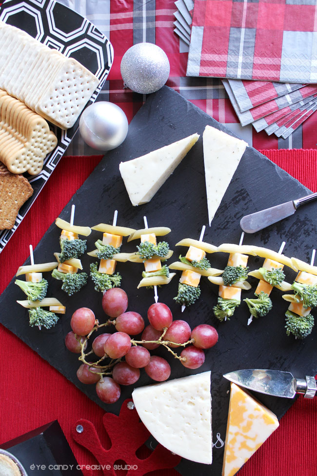 holiday pasta bites, appetizer idea, wine & cheese, adult cocktails