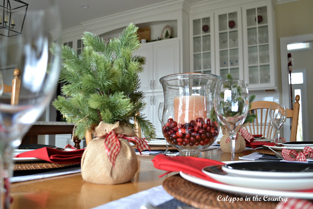Christmas Table with Cranberries