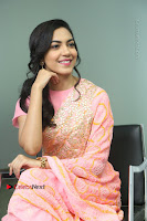 Actress Ritu Varma Pos in Beautiful Pink Anarkali Dress at at Keshava Movie Interview .COM 0231.JPG
