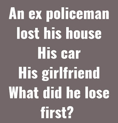 An ex policeman lost his house puzzle