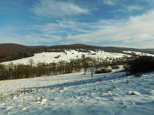 Dolina wsi Żydowskie.