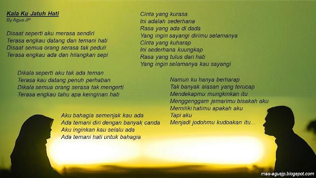 Puisi Kala Ku Jatuh Hati