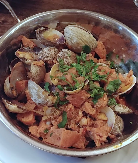 portugese sausage SPAM and clams!