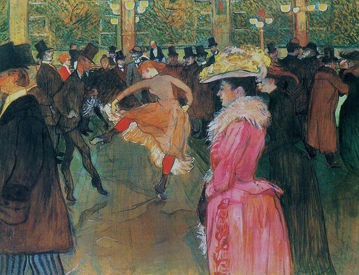 At the Moulin Rouge, The Dance - Henri de Toulouse-Lautrec
