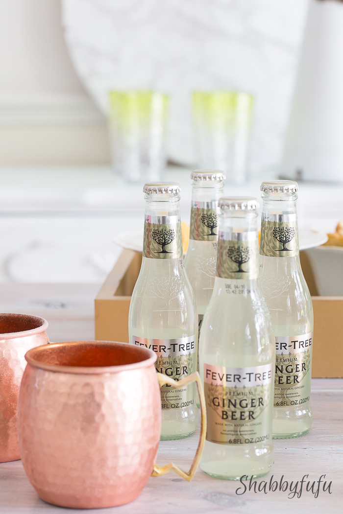 fever tree ginger beer moscow mule copper cups