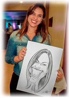 caricaturista para evento em gravatá