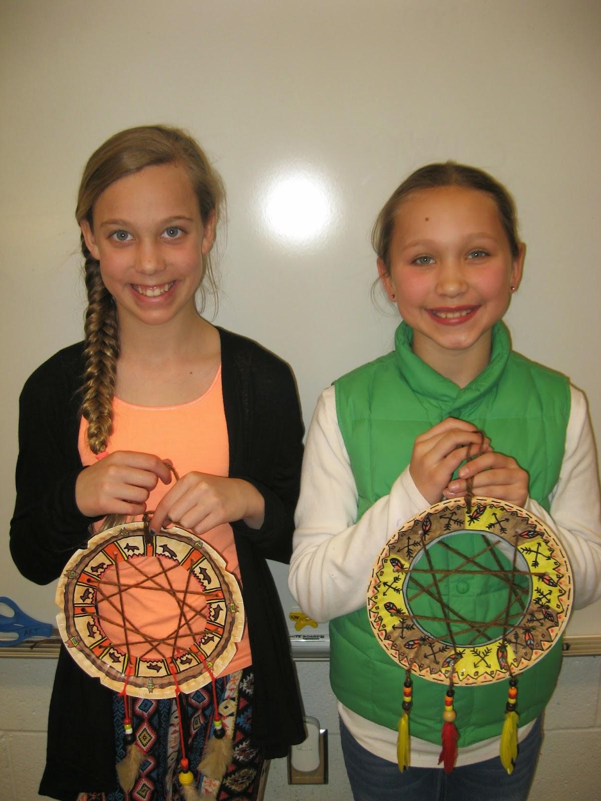 Jamestown Elementary Art Blog 5th Grade Native American Dream Catchers